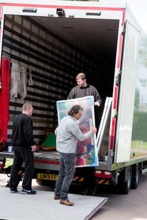 Hestercombe Gallery - art arriving - by Mark Gawthorne