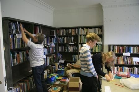 Hestercombe Bookshop - being packed -compressed