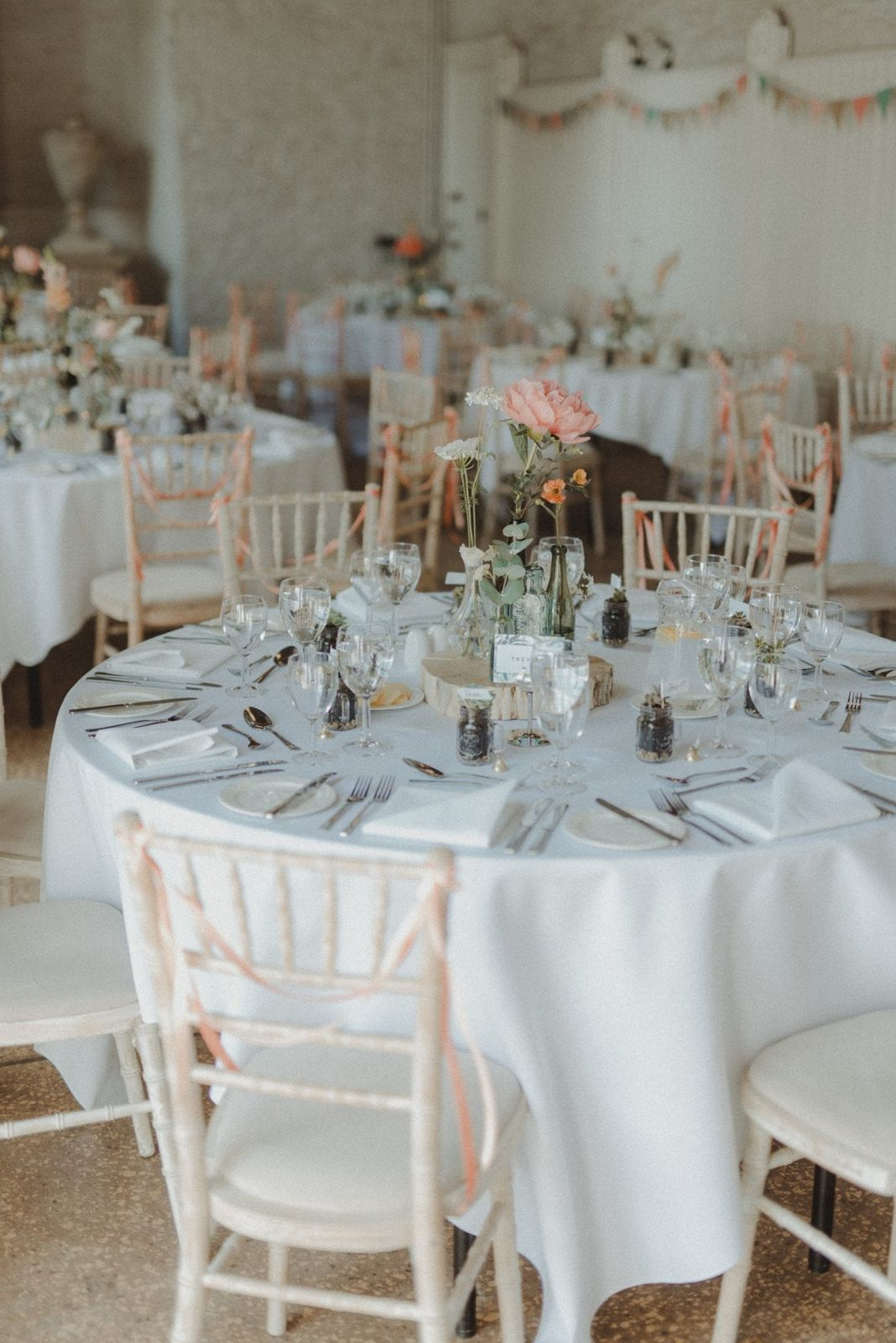 Be inspired by this couple's rustic Hestercombe real wedding, with an Orangery ceremony, rustic barn style reception and English garden flowers...