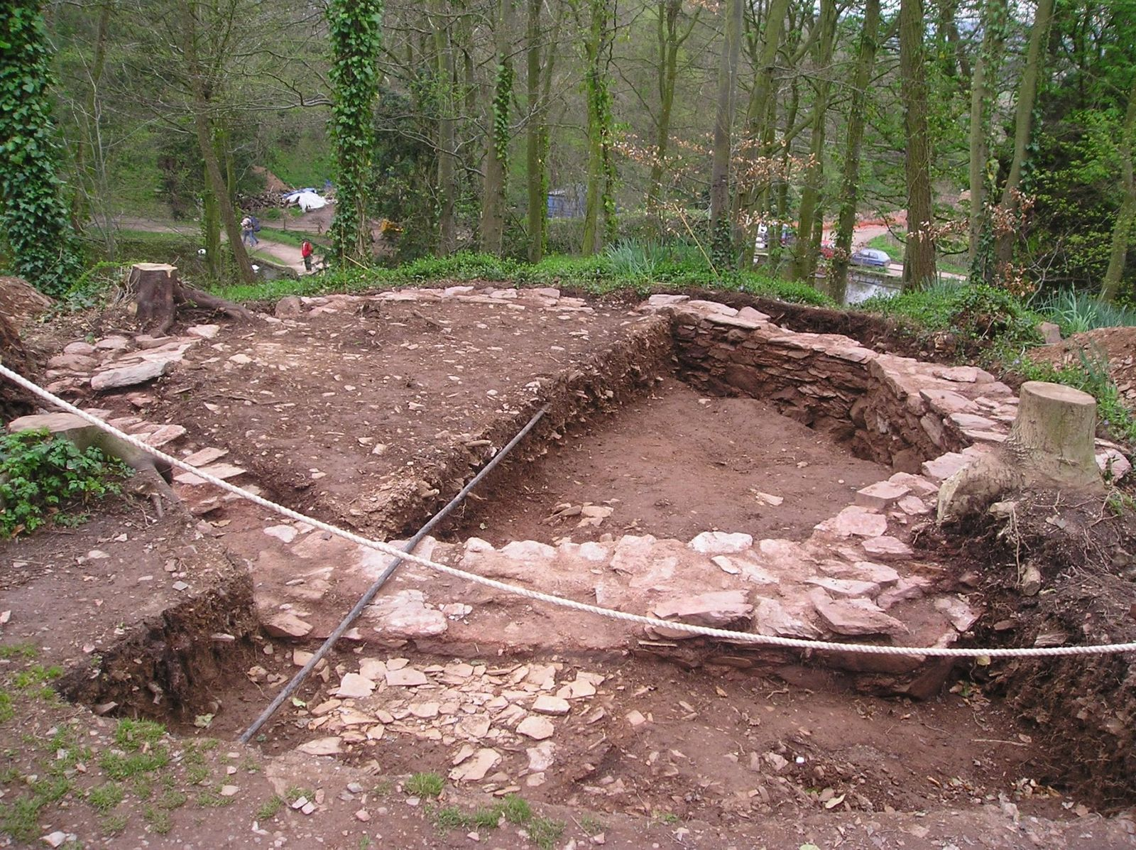 The discovery of foundations of a Georgian summerhouse during excavations in 2005