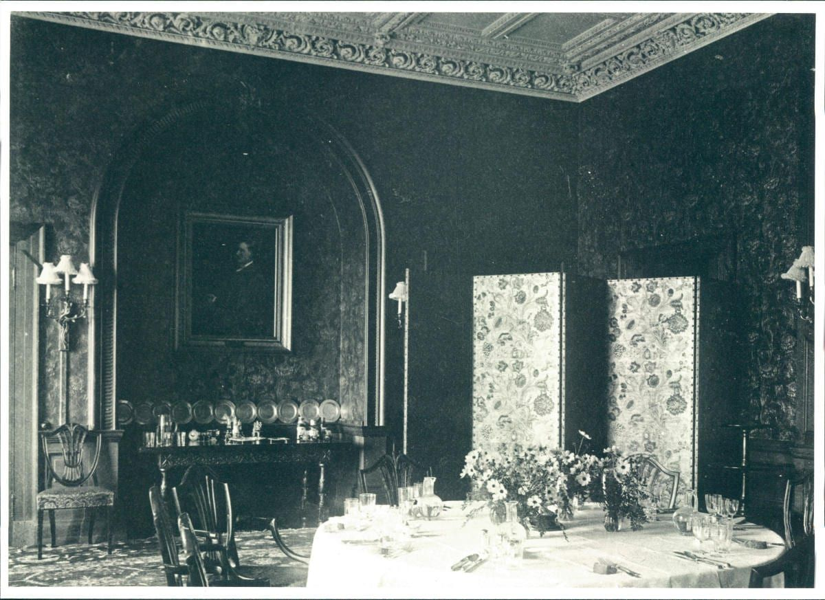 The The 'capacious' dining room at Hestercombe