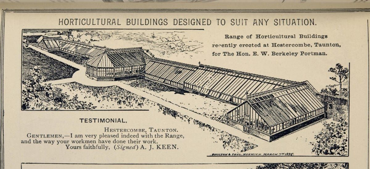 E. W. B. Portman's new range of glasshouses at Hestercombe