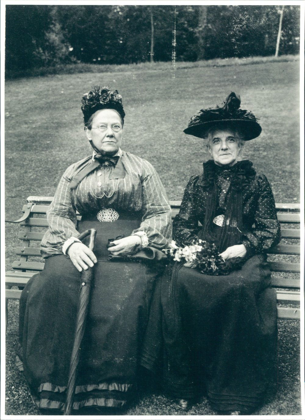 Fig. 5 – Miss Elizabeth Mary Robinson (1840-1913), seated right with Mrs. Blakey c.1905 - domestic servants