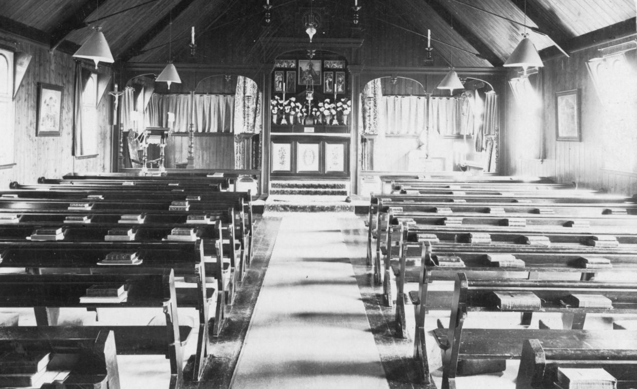 Fig. 4 Interior St Mary's Church Hestercombe c.1908 - Hestercombe Archives