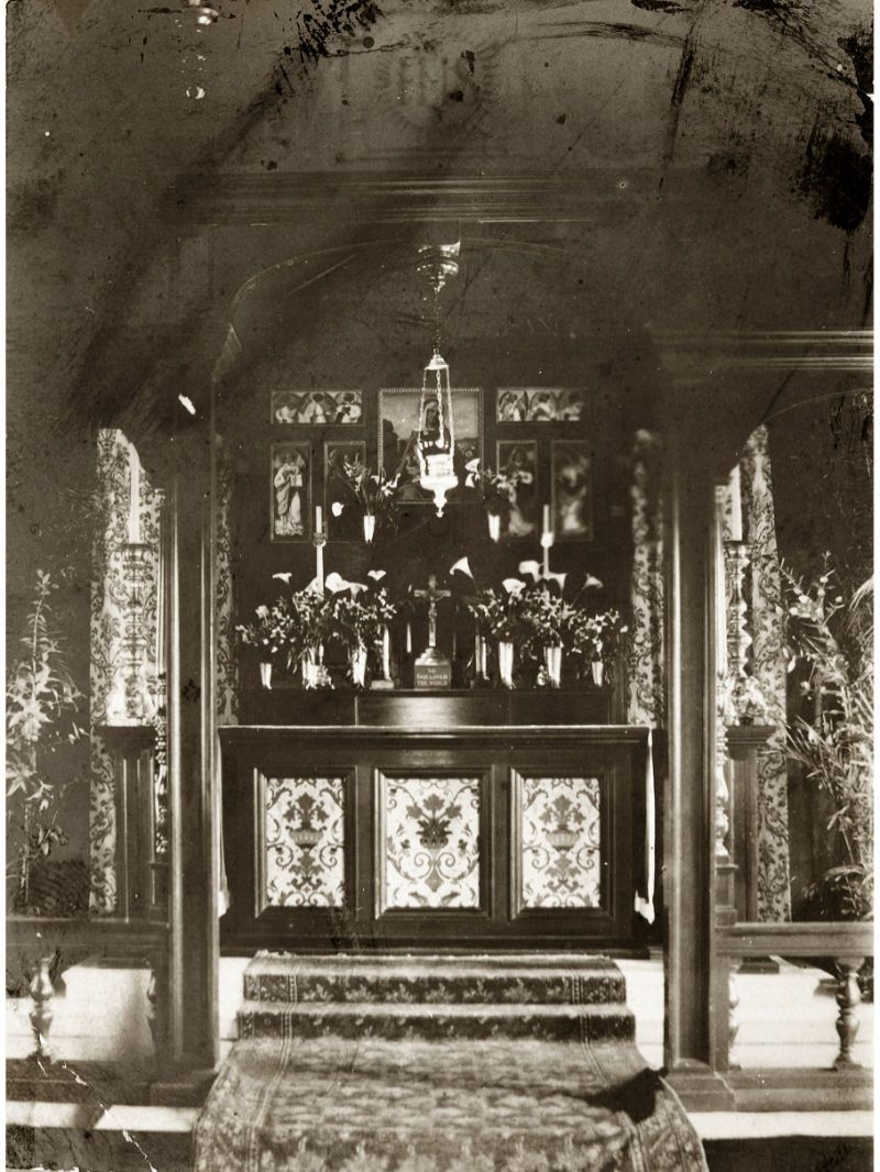 Fig. 5 The Altar, St Mary's Church Hestercombe c.1908 - Hestercombe Archives