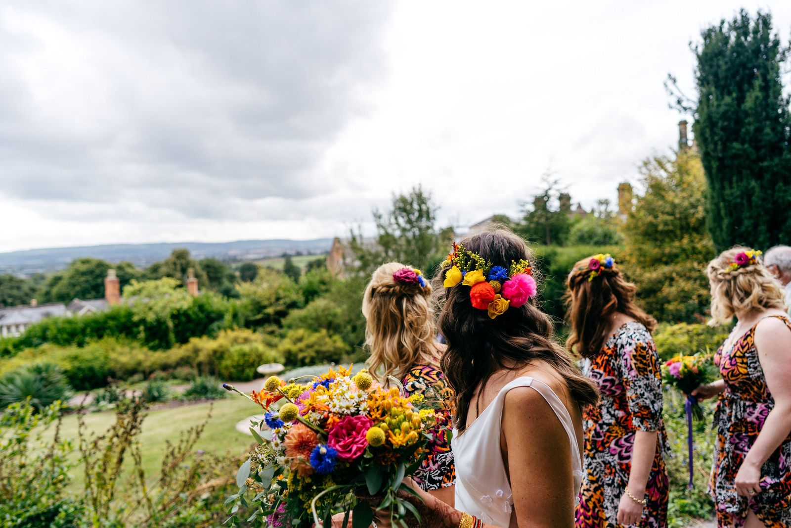 Jump behind the scenes of this balloon-filled, brightly coloured country house wedding in Somerset, complete with a dream outdoor ceremony in the temple.