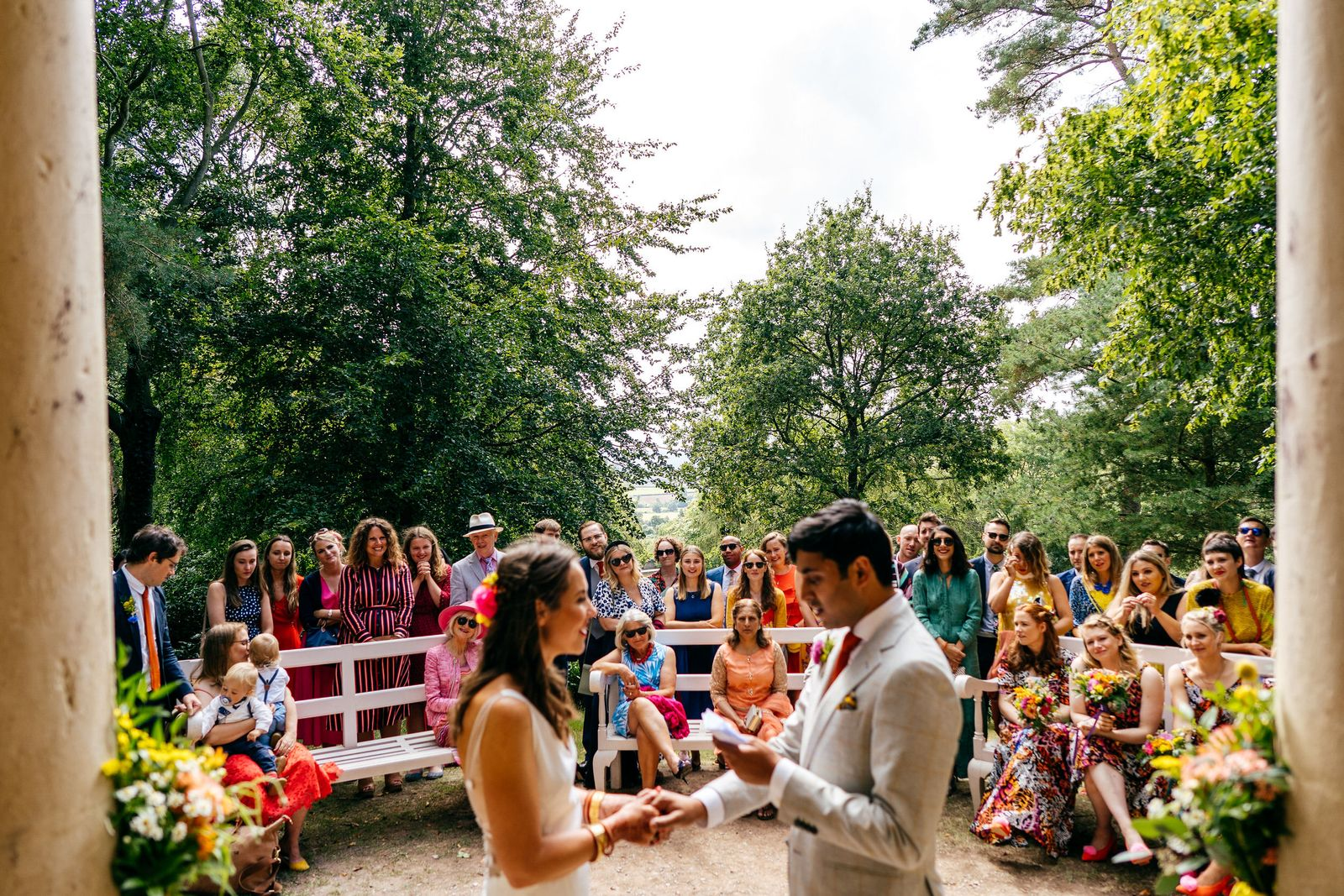 outdoor wedding ceremony at Hestercombe Gardens in Somerset