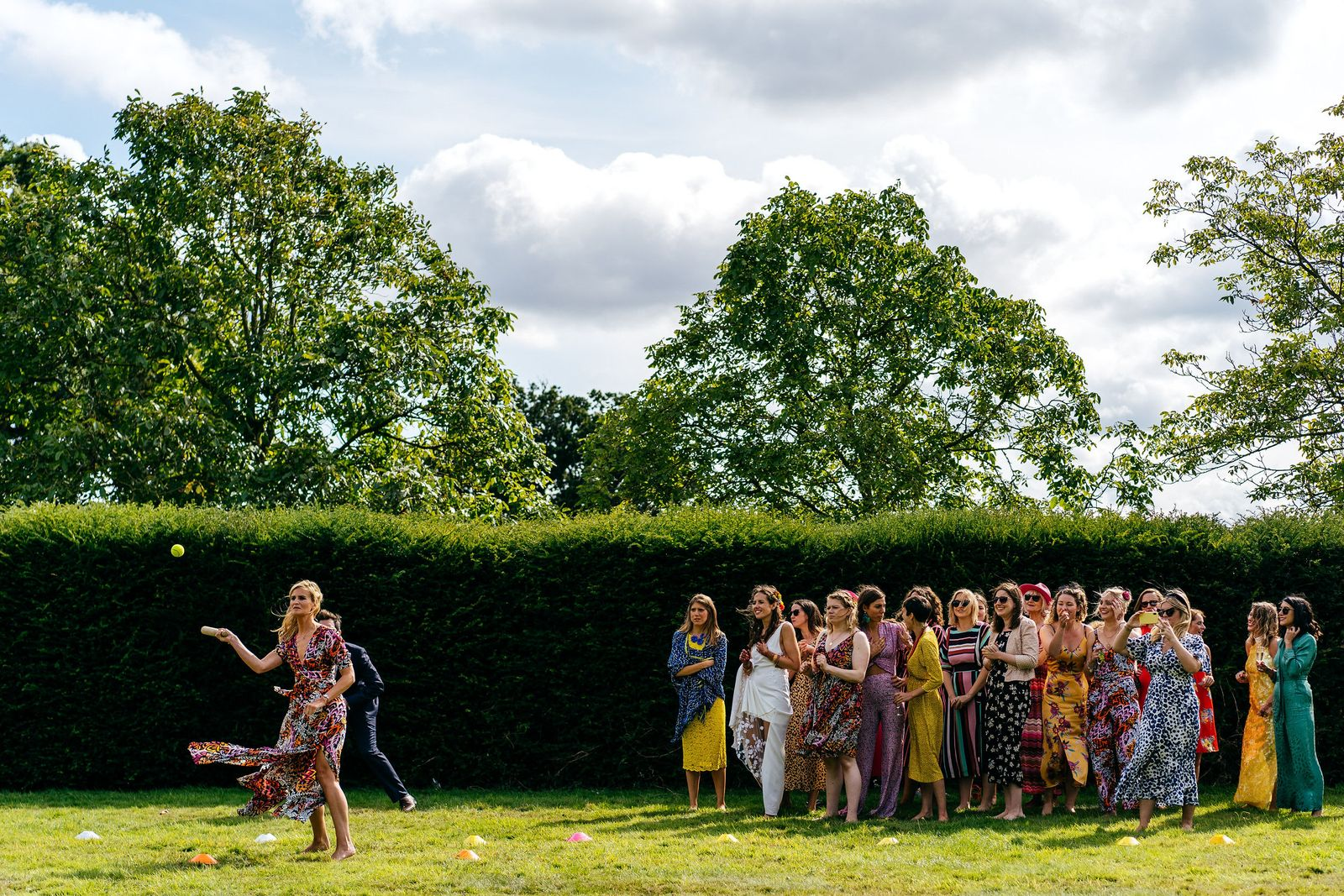 Rounders and garden games at this country house wedding in Somerset