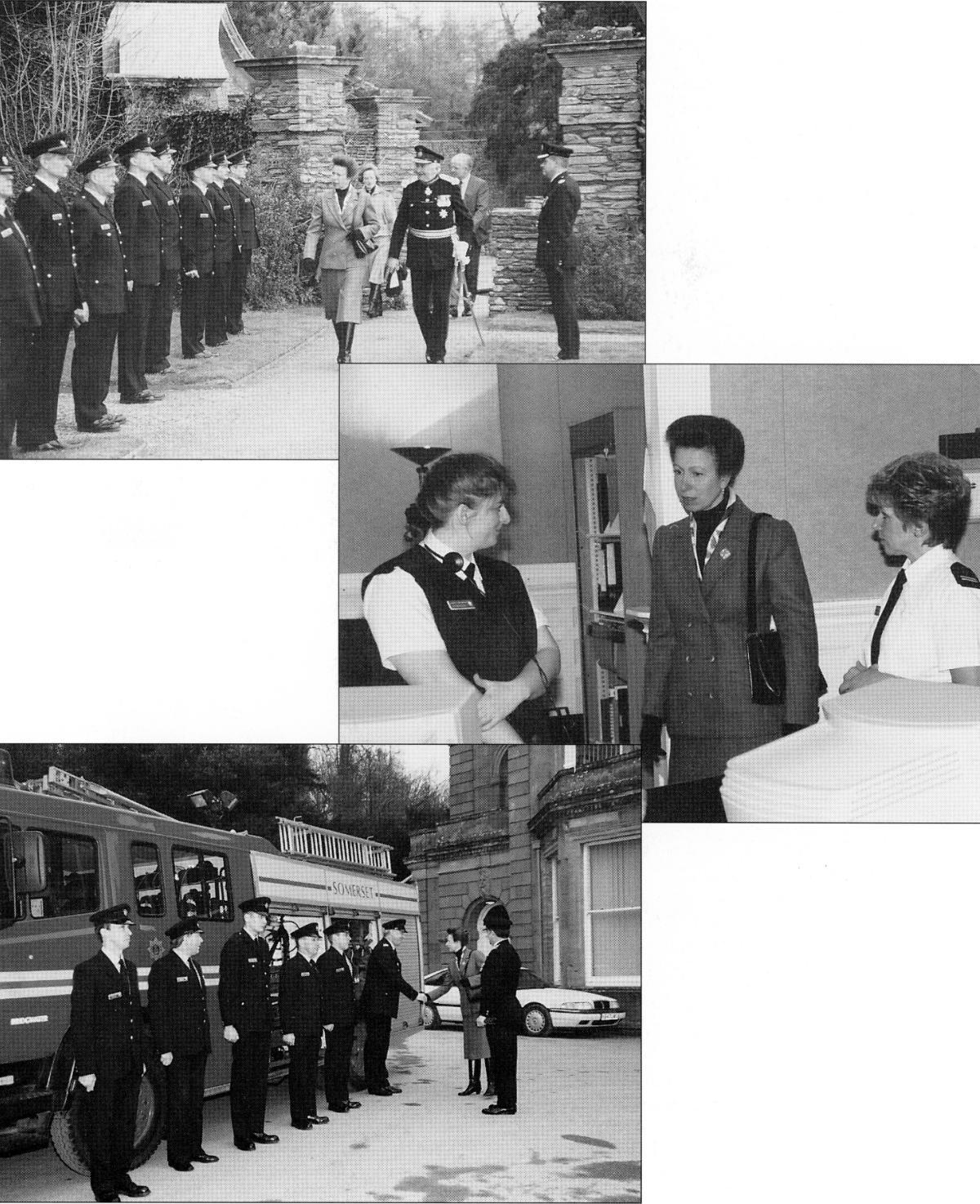 Fig. 23 Visit of Princess Royal 1995_somerset fire brigade-hestercombe