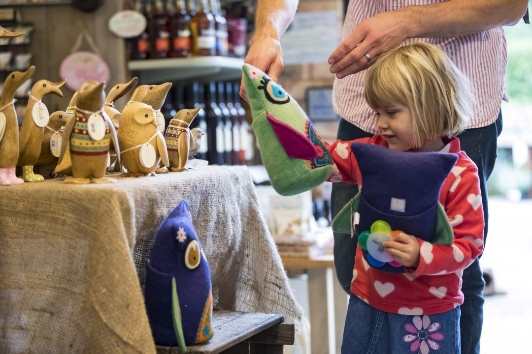 Children shopping at Hestercombe