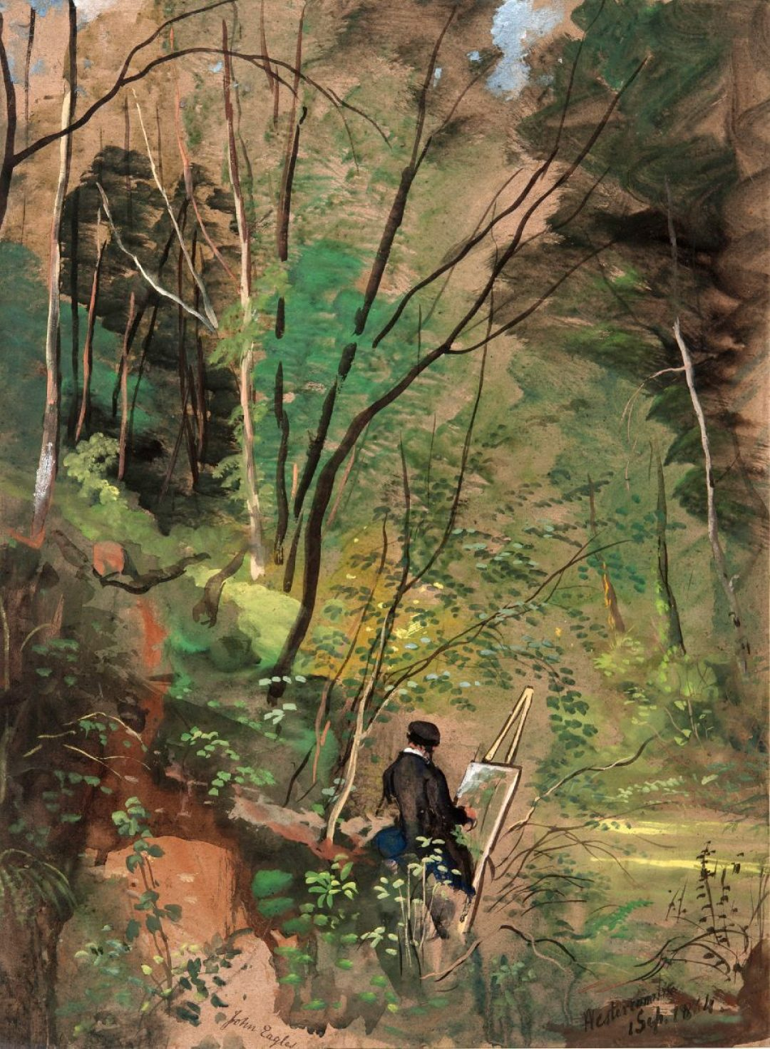 CWB 2 24c Artist Sketching at Hestercombe by J Eagles 1834 web